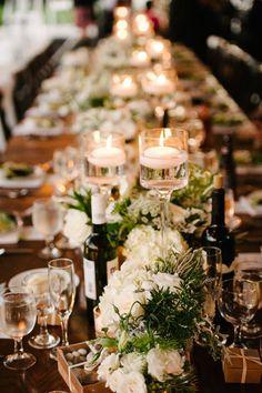 Featured Photographer: Erica Schneider Photography; Wedding reception centerpiece idea.