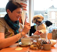 'Chiens et Café: Where dogs can bring their owners.'