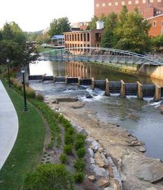 Beautiful view of the Reedy River while strolling along Swamp Rabbit Trail. You can walk the trail or bike all the way to Travelers Rest if you have the desire.