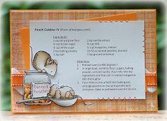 The Paper Landscaper: Peach Cobbler Recipe Card