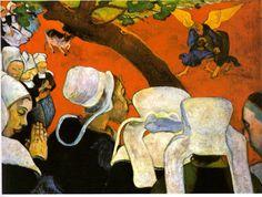 Visão após o Sermão: Jacó Lutando com o Anjo. 1888. Artista: Paul Gauguin. Galerias Nacionais da Escócia, Reino Unido.