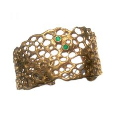 Aspen Cuff with Two Emeralds | Sabo Designs