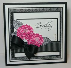 "By Narelle Farrugia. Uses Stampin' Up ""Fabulous Florets"" stamp set."