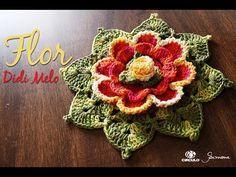 """Nesta vídeo aula temos a """"Flor em Crochê em homenagem a querida e talentosa Didi Melo Este é o canal da """"Professora Simone Crochê"""", vídeos aulas de crochê, m..."""