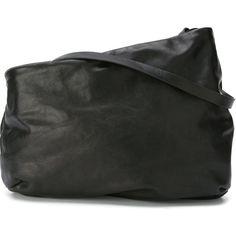Marsèll large asymmetric shoulder bag (£990) ❤ liked on Polyvore featuring bags, handbags, shoulder bags, black, purses, leather shoulder handbags, leather purses, shoulder handbags, leather shoulder bag and genuine leather shoulder bag