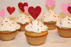Learning, Creating, Living.: Diy Heart Picks