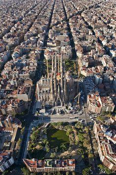Aèries, Aéreas, Aerial View | Basílica de la Sagrada Família (Pla Cerdà)