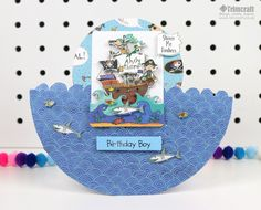 Today we're going to show you three funky and fabulous ways you can use the new Whiz Kids paper craft set by Rachel Ellen that will really make your kids crafting stand out from the crowd… Boy Birthday, Birthday Cards, Craftwork Cards, Paper Crafts For Kids, Facon, Kids Cards, Decoupage, Card Making, Card Ideas