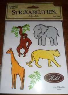 ScrapBooking Embellishment Wild Animals by KindlingWoodCrafts