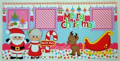 BLJ Graves Studio: Christmas, Santa, Mrs Claus & Rudolph Scrapbook Page