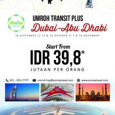 Umroh TRANSIT PLUS ABU DHABI Bintang *4 (Quad) / by AnnisaTravelJKT