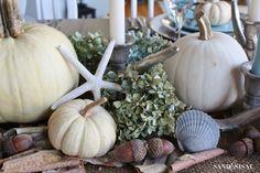 Coastal Thanksgiving Tablescape