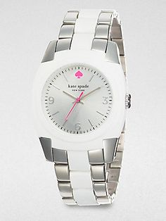 Kate Spade New York Skyline Stainless Steel and White Bracelet Watch