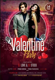 Valentines Party 2017 – Free PSD Flyer Template - Free PSD Flyer - Download Free PSD Mockup Flyers, Posters & Business cards