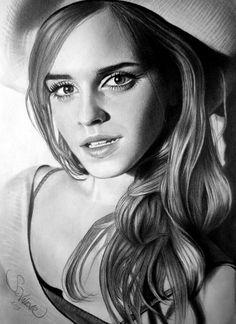 Charcoal Drawing Emma Watson