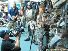 Crystal Pyramid Crew  seconds ago More San Diego Comic Con moment, 2010 - Predators on Display! (Photo by Comic Conventions, San Diego Comic Con, Sci Fi Movies, Predator, In This Moment, Crystal, Display, Group, Floor Space