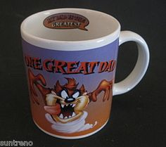 Tasmanian Devil TAZ Coffee cup Mug One Great Dad Warner Bro. 2000 10 oz  Mouse over image to zoom     Tasmanian Devil TAZ Coffee cup Mug One Great Dad Warner Bro. 2000 10 oz				  Zoom InZoom Out  Have one to sell?Sell it yourself  	  Tasmanian Devil TAZ Coffee cup Mug One Great Dad Warner Bro. 2000 10 oz
