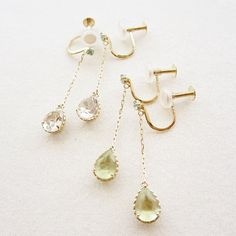 K10YG natural stone earrings #tocca #japan