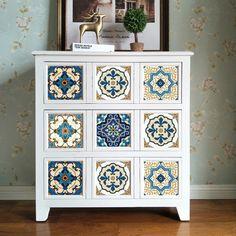Ethnic Moroccan Tile Stickers PVC Waterproof Self adhesive Kitchen Furniture Bathroo Bathroom Furniture, Kitchen Furniture, Furniture Decor, Painted Furniture, Living Room Furniture, Modern Furniture, Cheap Furniture, Furniture Dolly, Country Furniture