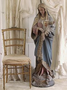Kerkbeeld Maria / large statue of Mary from a Church. SOLD