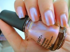 china glaze afterglow (This color is BOMB! China Glaze Nail Polish, Pink Nail Polish, Pink Nails, Natural Nail Polish Color, Cute Nails, Pretty Nails, Hair And Nails, My Nails, Manicure