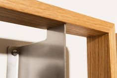 The frames are made of domestic oak and stainless steel, all manufactured in Hamburg.  Design: Jens Baumann