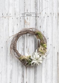 Minimal spring living wreath diy