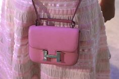 Hermes Constance bag and in pink? She hit the Hermes Jackpot!