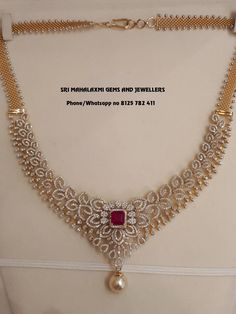 Call on 8125 782 411 fr orders. Call on 8125 782 411 fr orders. Dimond Necklace, Diamond Solitaire Necklace, Diamond Pendant, Diamond Jewelry, Gold Necklace, Pearl Pendant, Indian Diamond Necklace, Gold Wedding Jewelry, Bridal Jewelry