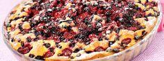 vruchtentaart met diepvriesfruit en bosvruchten vlaaivulling