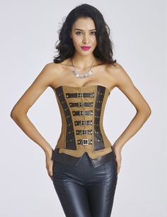 Be effective with this product MOONIGHT Ladies L... and stop doubting yourself, see it on Costbuys http://www.costbuys.com/products/moonight-ladies-lace-up-sexy-brown-leather-steampunk-overbust-corset-sexy-corsets-and-bustiers?utm_campaign=social_autopilot&utm_source=pin&utm_medium=pin