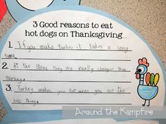 Thanksgiving opinion writing activity