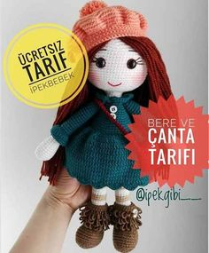 Handicraft has presented the baby amigurami paste to our advantage by posting the description of İpek Gibi amigurumi on its website. Crochet Teddy, Crochet Patterns Amigurumi, Amigurumi Doll, Crochet Disney, Knitted Dolls, Crochet Dolls, Amigurumi For Beginners, Master Class, Free Pattern