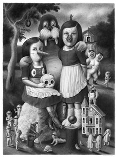 Amandine Urruty's New Drawings Overflow with Fantasical Characters | Hi-Fructose Magazine