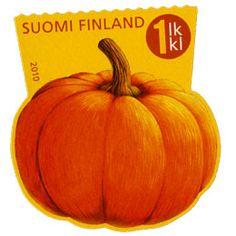 Postage Stamps, Pumpkin, Vegetables, Paper, Food, Finland, Stamps, Pumpkins, Essen