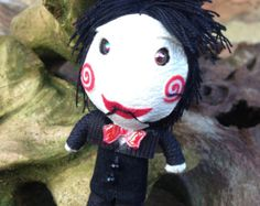 Handmade String Dolls of String Voodoo Doll Billy Saw Puppet Mascot Horror Movie Keychain
