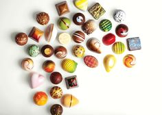 Artistic Chocolates by Norman Love Confections.