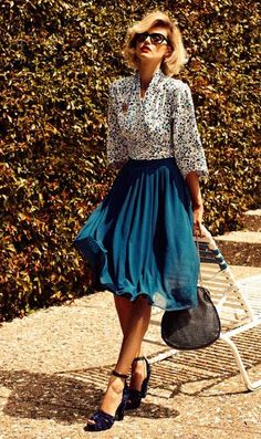 Vintage Style,love the skirt <3