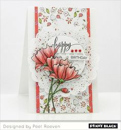 Featuring stamps and dies from Penny Black's newest 2015 release-- Sunshine and Smiles! Download complete supplies and instructions on our blog.