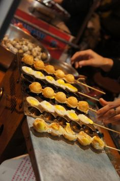 Speckled eggs being sold in a street market in Xian, China.