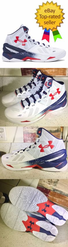 Men 158971: New @ Men S Under Armour Curry 2 Team Usa Red White Blue 3 -> BUY IT NOW ONLY: $62 on eBay!