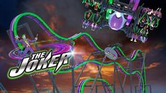 Total Mayhem Becomes The Joker Roller Coaster at Six Flags Great Adventu...
