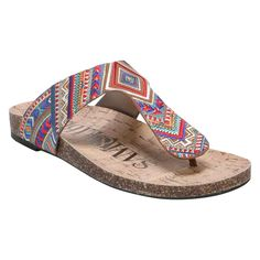Women's Sam & Libby Global Comfort Footbed Thong Sandals - Multicolor 7.5, Multi-Colored
