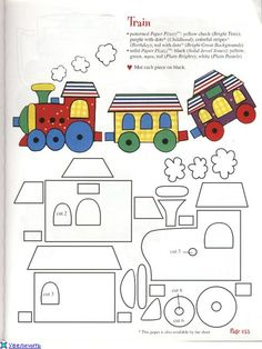 Free Online Train Colouring Page