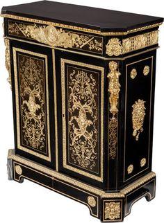 Furniture : French, A Napoleon III Ebonized Wood and Gilt Bronze-Mounted Pier…