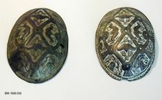 Viking brooches. Photo credit: Norway's DigitaltMuseum. Both buckles were found during excavation at the sheriff's farm at Limi in Gjerpensdalen.
