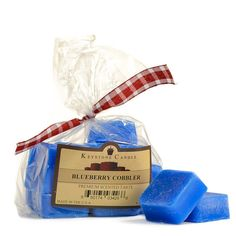 <h4>About Wax Melts</h4> This 10 piece bag of strong scented Blueberry Cobbler wax melts will keep your home smelling great for weeks. Place 1 or more of the square melt pieces into your tart burner to begin experiencing the delightful fragrance. Use our wax tarts as an alternative to burning a candles especially in dormrooms, hotels, offices, or unattened room...