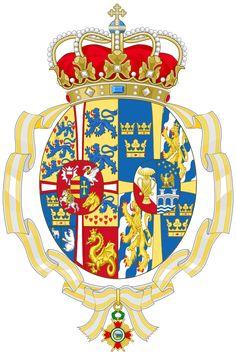 Coat of Arms of Ingrid of Sweden married to King Frederick of Denmark (Order of Isabella the Catholic). Oldenburg, Asian History, British History, Historical Women, Historical Photos, Anne Boleyn Tudors, Strange History, History Facts, Haunted History