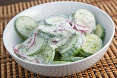 Creamy Dilled Cucumber Salad.