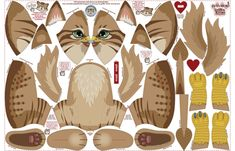 Griffin Kitten fabric by woodmouse